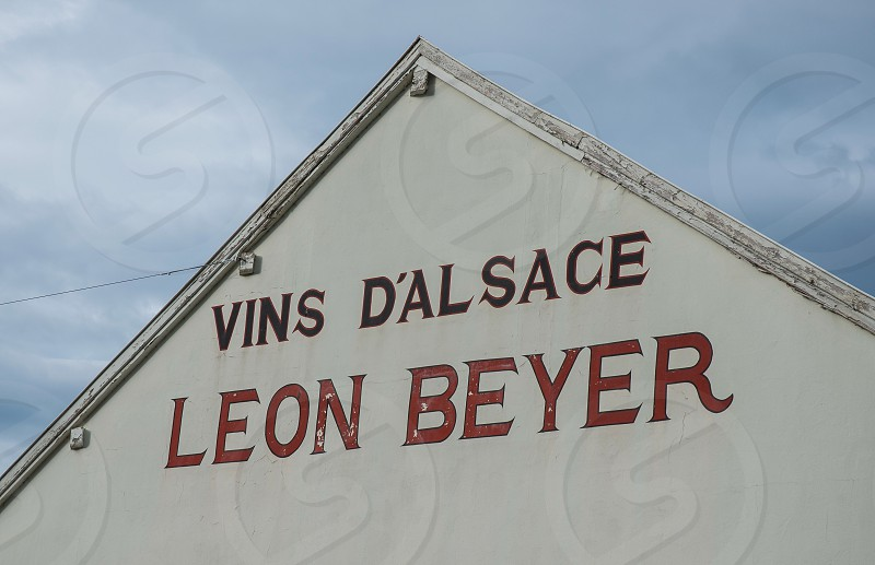 vins d'alsace leon beyer printed on wall photo
