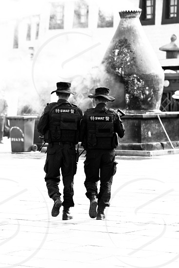 Police Tibet China photo