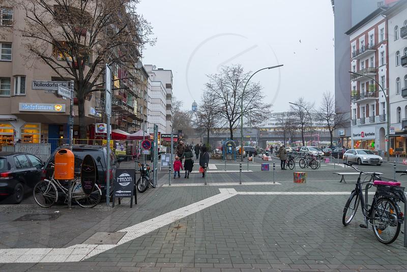 Cloudy Saturday market at Winterfeldtplatz photo