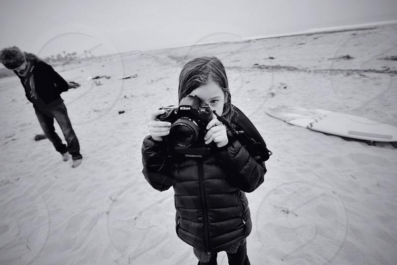 Beach photographer California BW photo