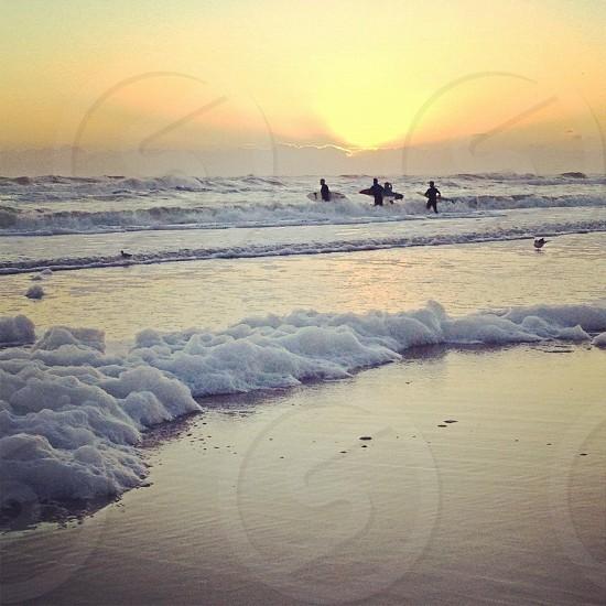 Sunrise surfers photo