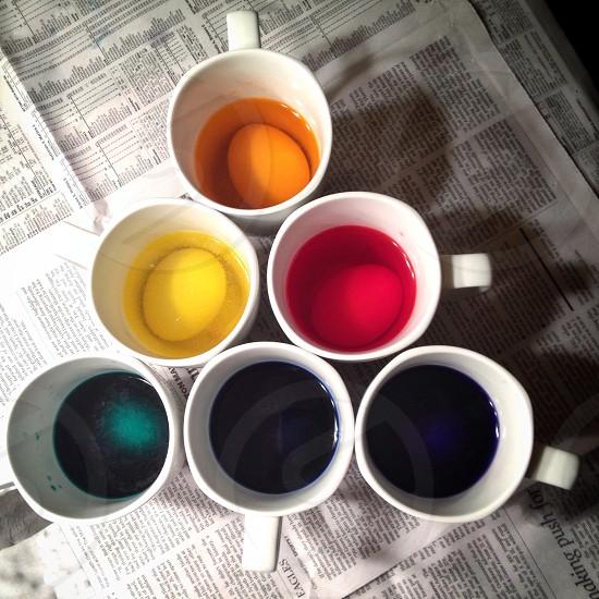 Easter egg dye pyramid  photo
