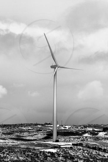 Wind Turbine in rural Wyoming photo