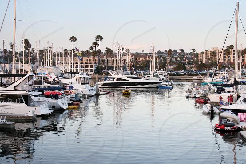 boats marina Redondo Beach yachts water photo