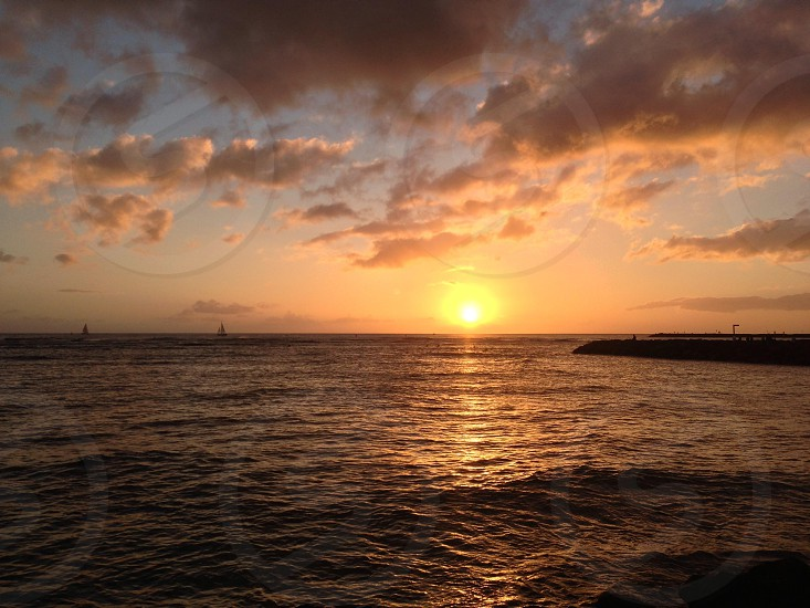 Sunset Hawaiian Islands Hawaii North Shore photo