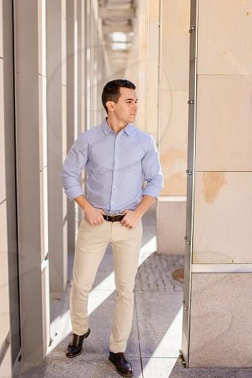Businessman standing outdoor photo