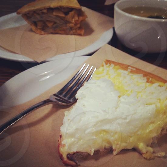 Pie custard photo