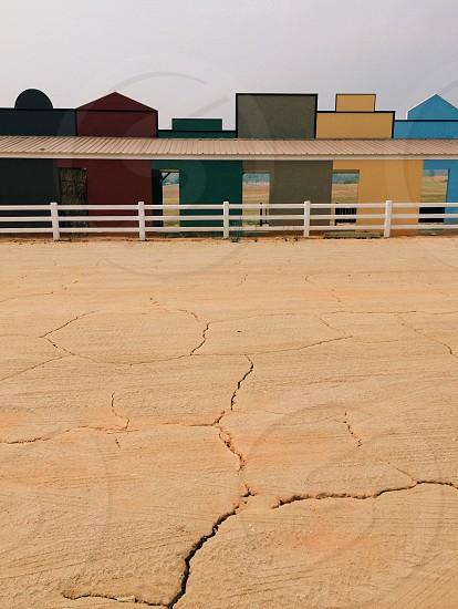 brown cracked ground photo