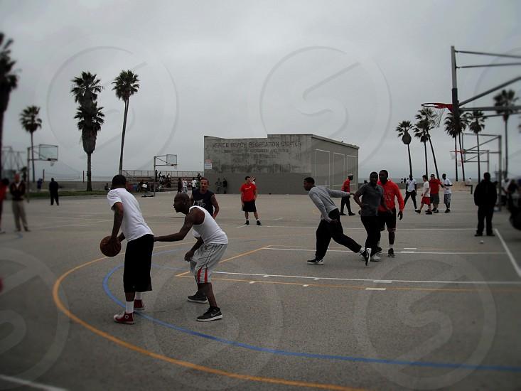 streetball in venice beach photo