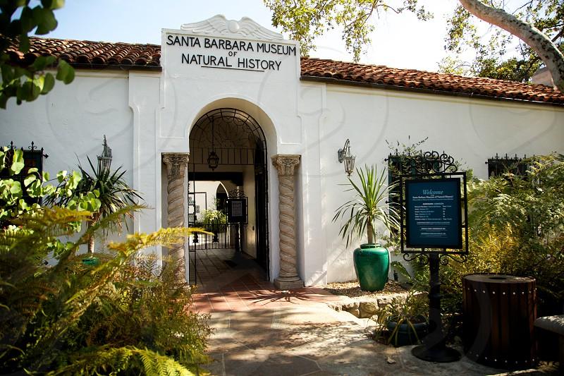 santa barbara museum of natural history signange photo