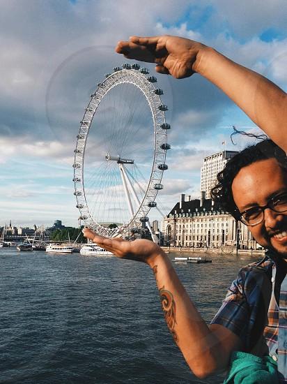 london eye view photo