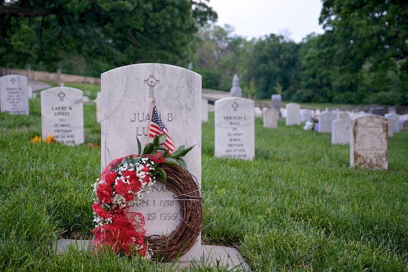 Memorial Day Fallen Soldiers and families Fort Riley KS photo