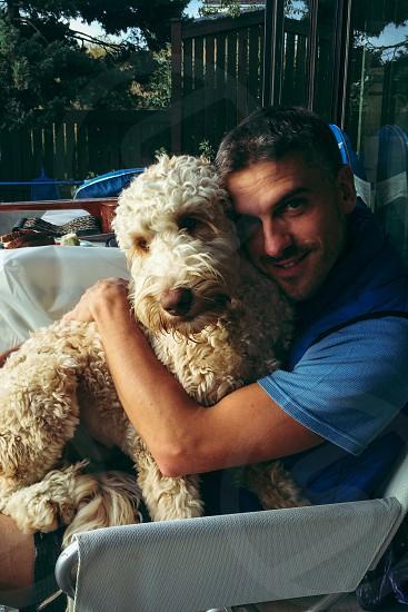 Hugging puppy tbt  photo