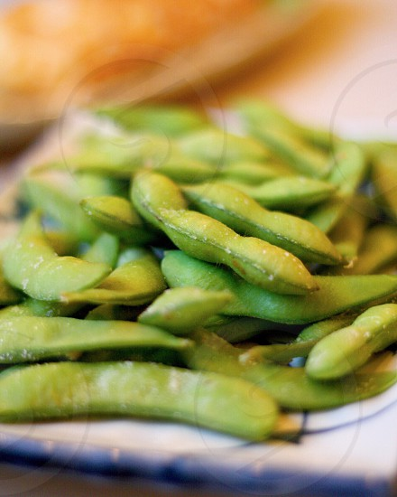 shallow focus of green beans photo