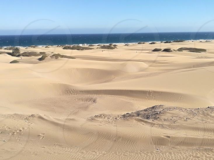 Big sand hills at Maspalomas Gran Canaria Spain photo