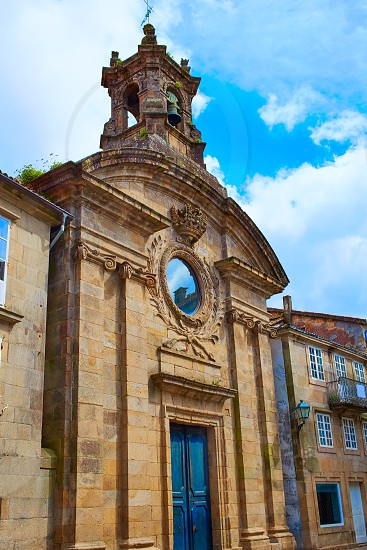 Santiago de Compostela Santa Maria del Camino church end of Saint James Way in Galicia Spain photo