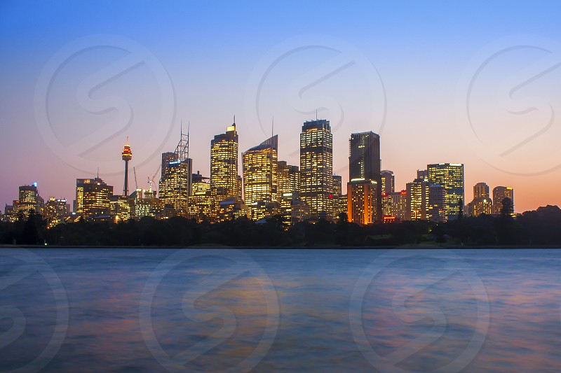 Sunset Sydney skyline  photo