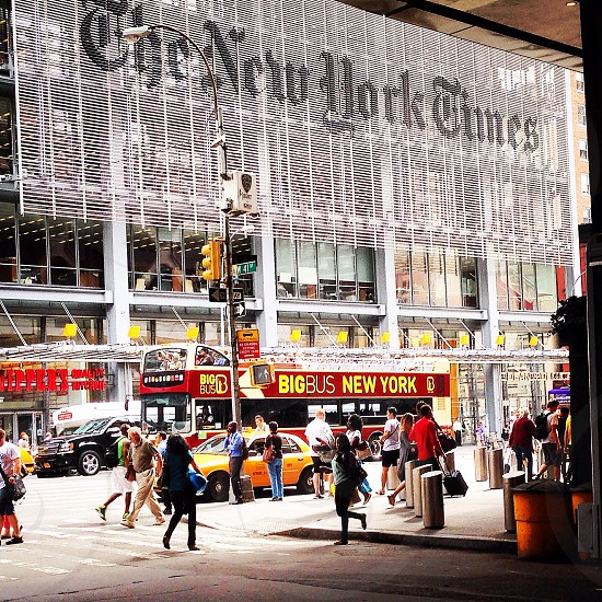 facade of The New York Times photo