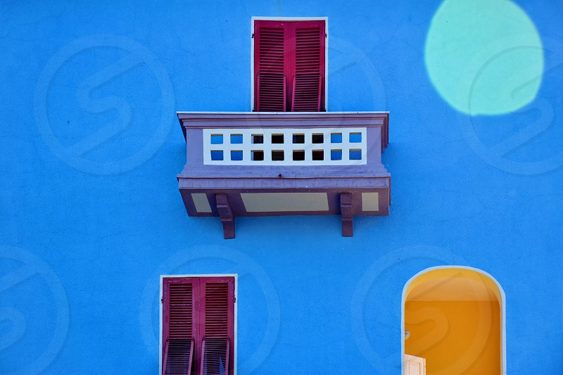 Colorful building wall photo