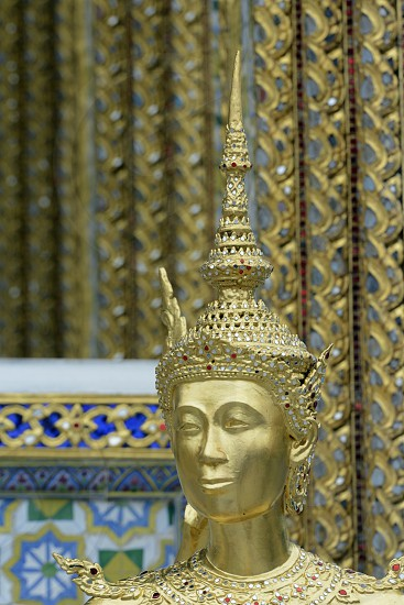 the temple of Wat Phra Kaew in Banglamphu in the city of Bangkok in Thailand in Suedostasien. photo