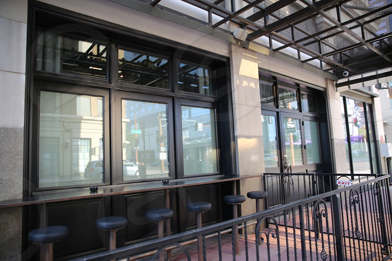 black steel railings photo