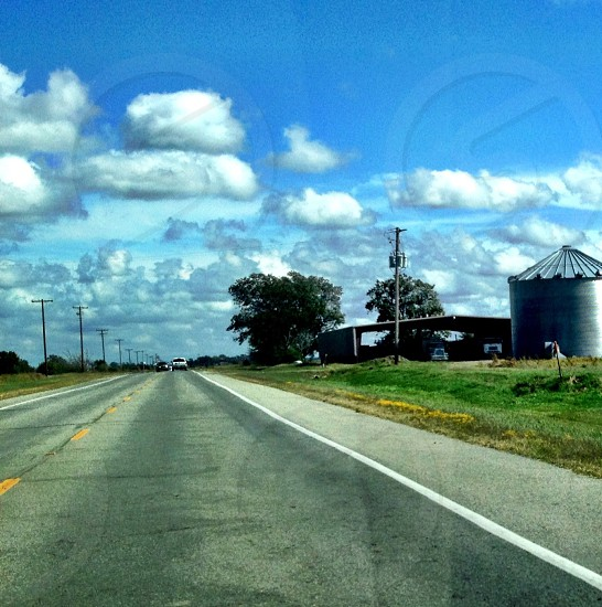 view of silver silo photo