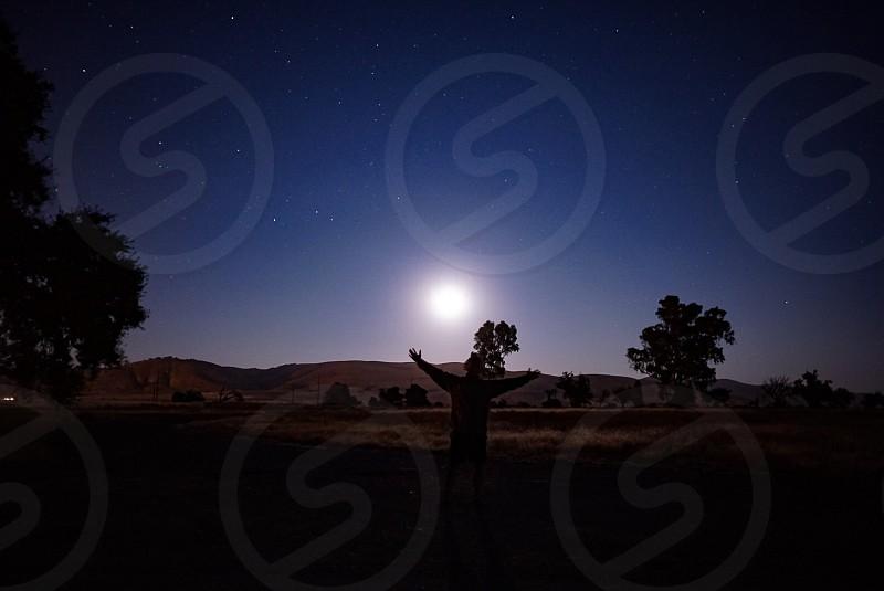 Nighttime shadow stars  photo