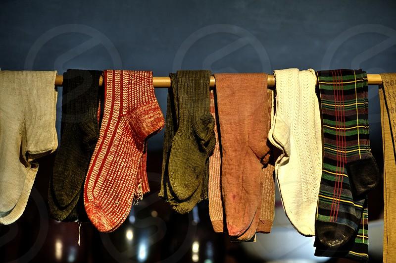 Vintage Socks hanging photo