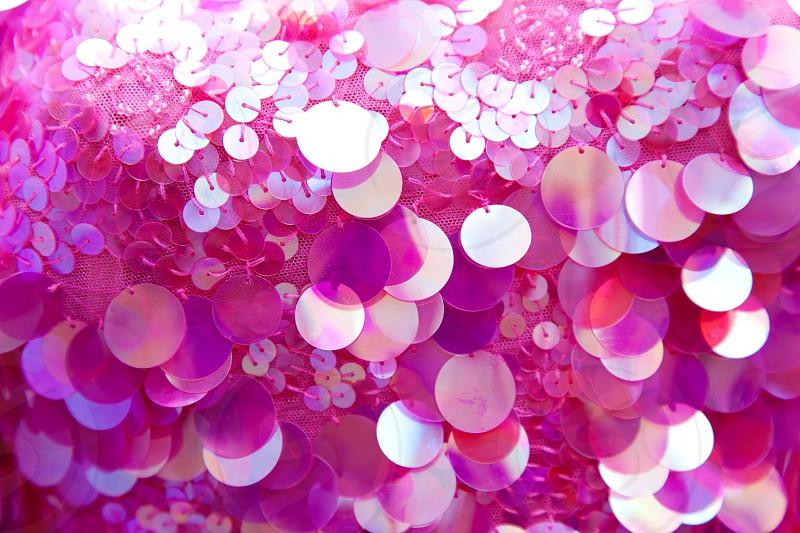 Pink sequins pattern texture fashion background photo