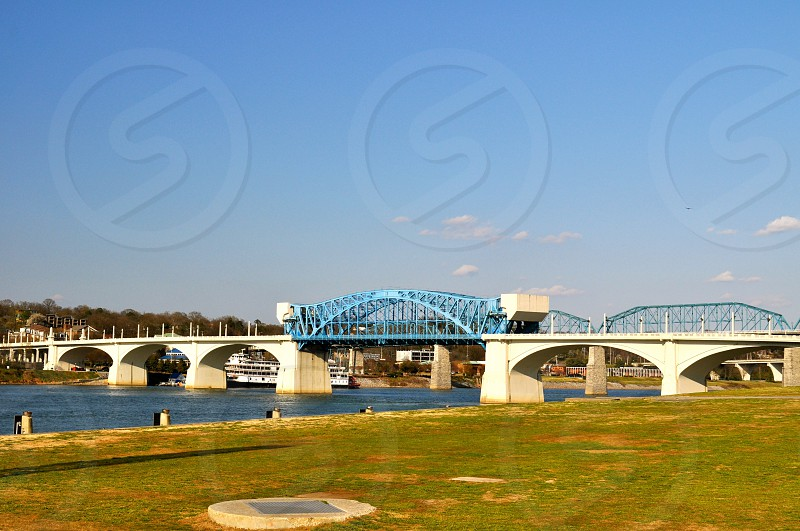 Bridge over Tennessee River - Chattanooga Tennessee - USA photo