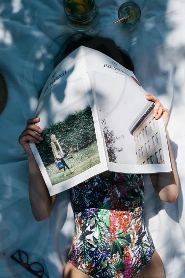 reading magazine photo