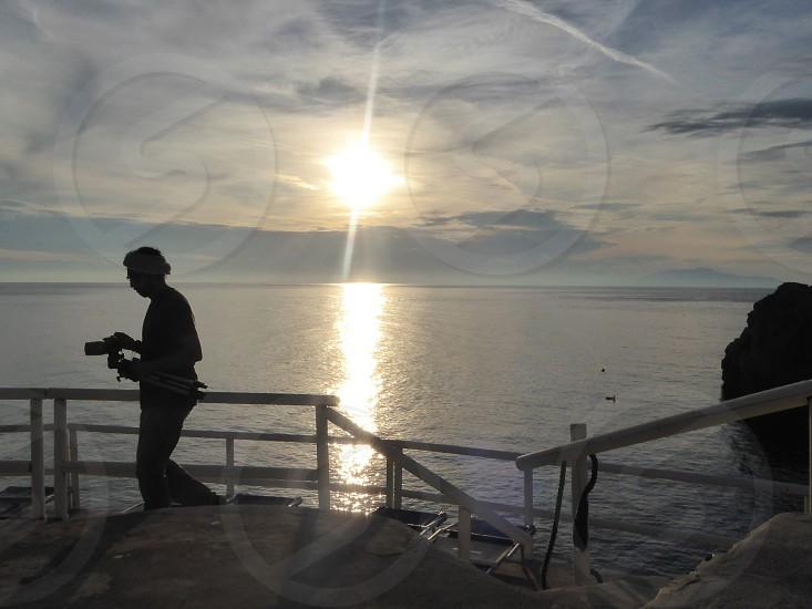 Sunset at Lido del Faro Capri Italy photo