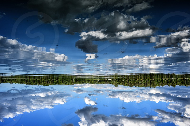 Upside down right side up. Lake reflections  photo
