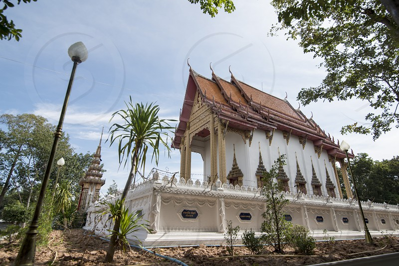 the wat Phrom in the city of Surin in Isan in Northeast Thailand.  Thailand Isan Surin November 2017 photo