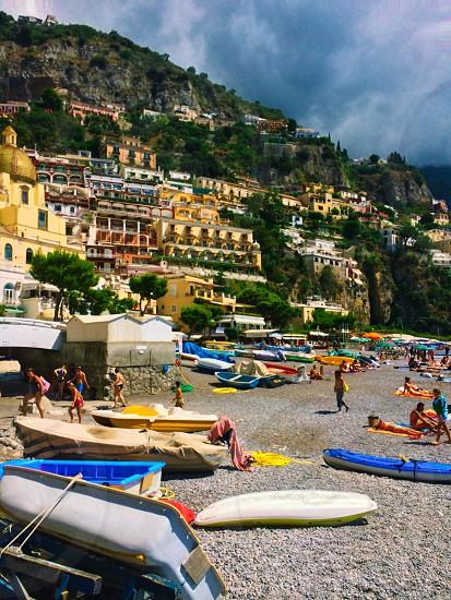 Positano Italy seaside village photo