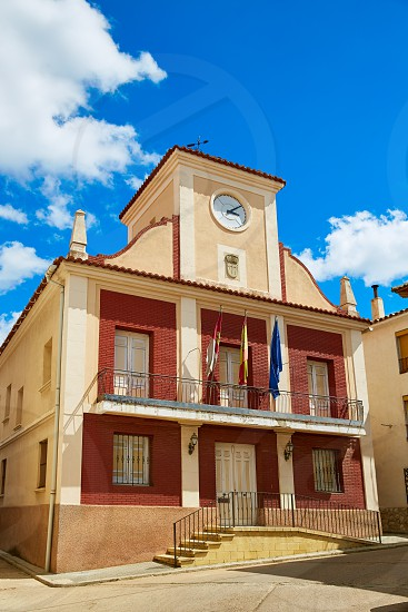 City town hall in Talayuelas Cuenca at Castilla la Mancha of spain photo
