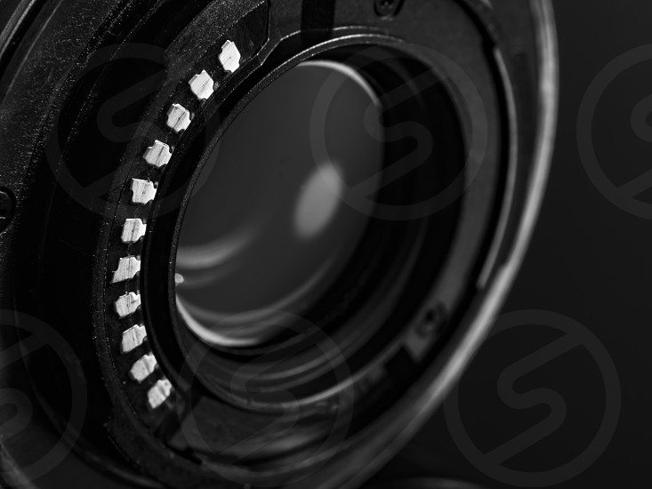 the contacts of the digital camera lens photo