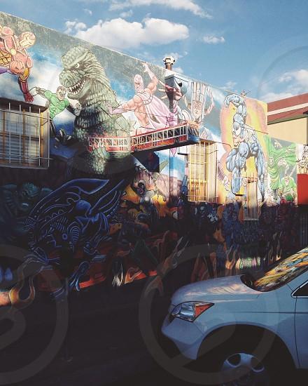 Albuquerque city & street art photo