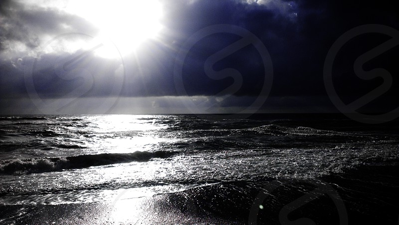 Sea_Dark_Sun_storm  photo