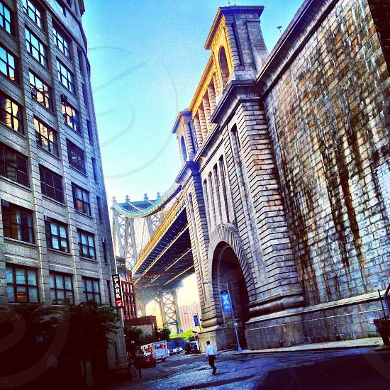 brown brick bridge stand photo