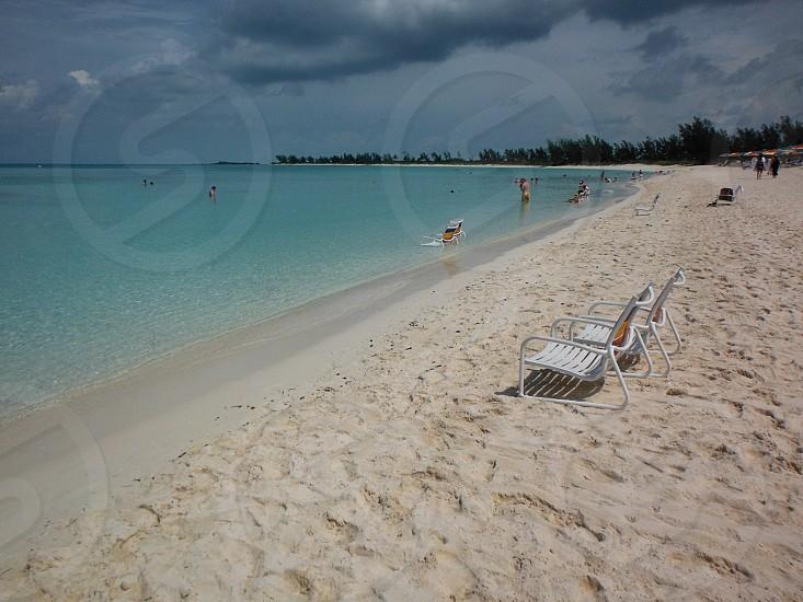 A beautiful beach in the Bahamas photo