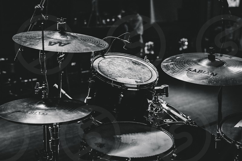 drum set in a bar photo
