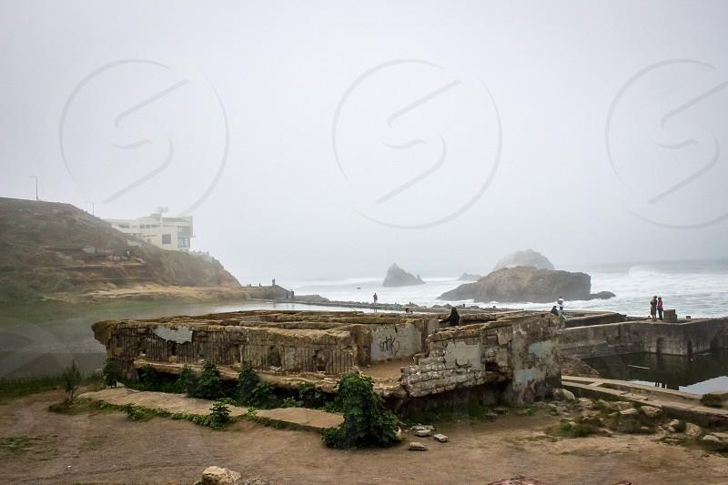 Sutro Baths ruins. San Francisco CA.  photo