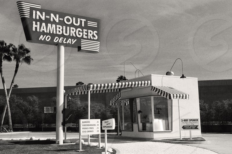 The Original In-N-Out Burger Stand Located in Baldwin Park Southern California.  photo
