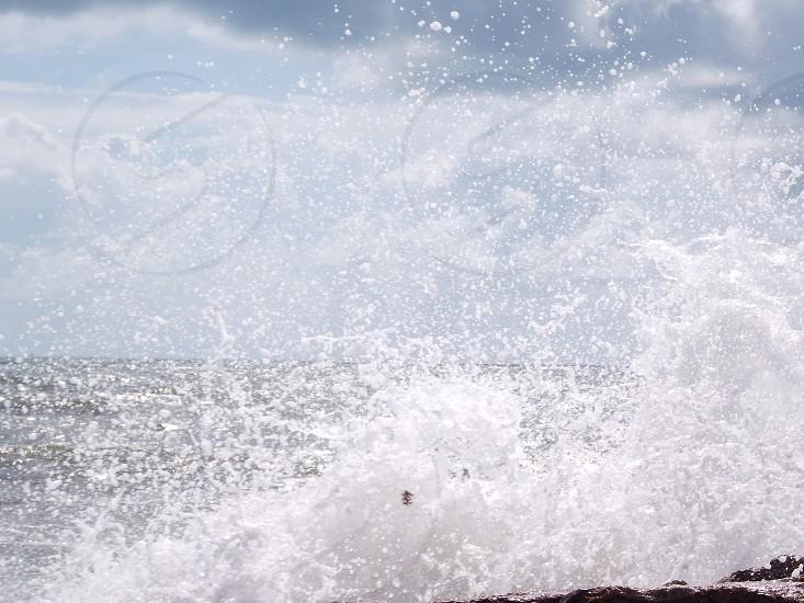 Beach day waves photo