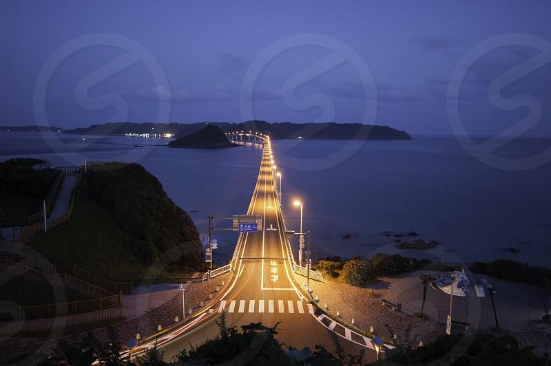 山口県、角島の夜景 photo