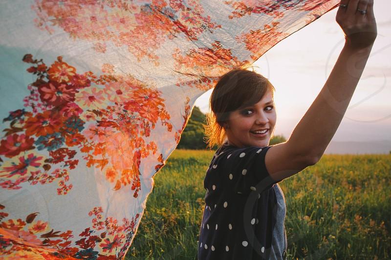 multicolored cloth photo