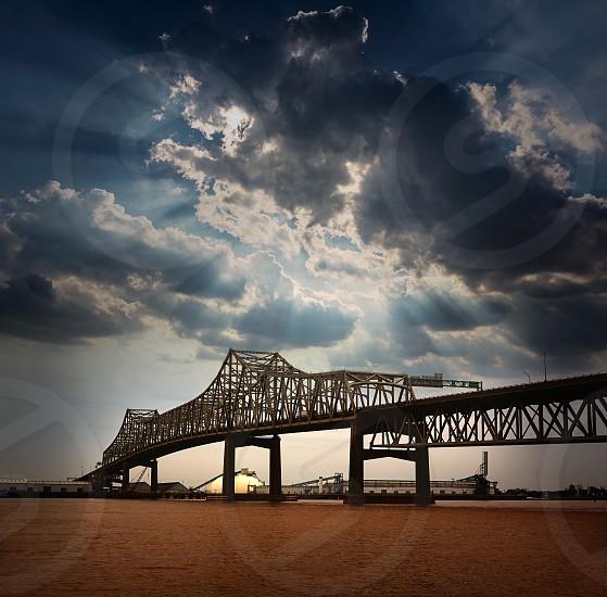 Louisiana Baton Rouge Horace Wilkinson Bridge Interstate i10 over Mississippi river USA photo