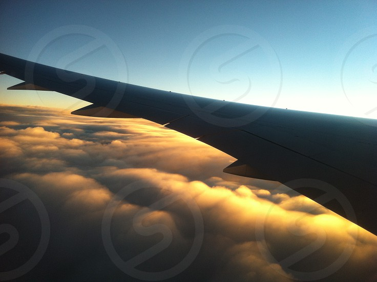 SunSet above the clouds photo