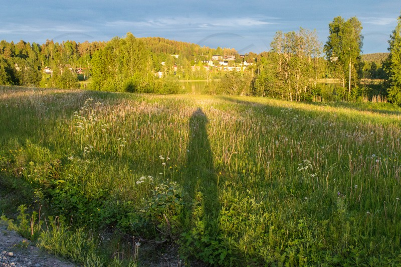 hiking on someplace north Sweden nice farming land photo
